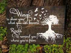 Roots and Wings Art Wings and Roots Inspirational Wall Art