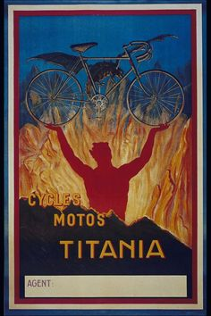 Cycles Titania ~ Leonetto Cappiello | #Bicycles #Titania #Cycles #Cappiello