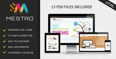 Mestro . Mestro is very flexible, easy for customizing and well documented, approaches for personal and professional use. The full layered  PSD  file included have been customized easily. Mestro  HTML  template perfect to promote your work or your