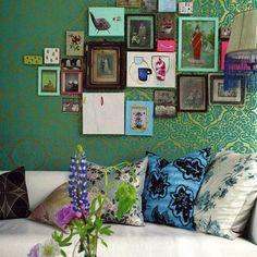Create your own eclectic gallery wall