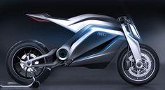 Audi Motorrad Concept Thibault et Marc Devauze ont imaginé ce concept « Motorrad » en déclinant l'image d'Audi et en imaginant comment ce constructeur pourrait évoluer sous la forme d'une moto