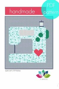 V and co sewing machine quilt