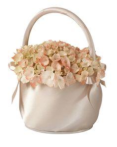 Taupe Satin Flower Basket