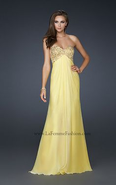 lovely YELLOW #prom La Femme dress