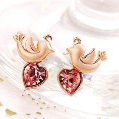 Bird Love Stationed Stud Earrings