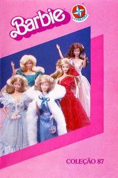 capa do booklet da Estrela da coleção Barbie de 1987