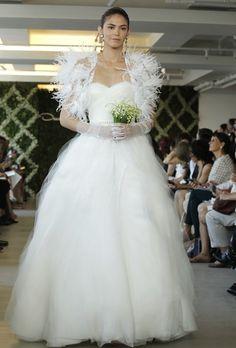 Oscar de la Renta - Spring 2013 - Strapless Ruffle Organza A-Line Wedding Dress $347.99 Oscar de la Renta http://www.retroic.com