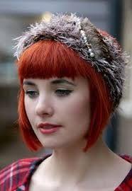 Image result for short bob fringe red hair