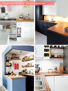 my kitchen makeover inspiration / The Sweet Escape: butcher block counter