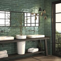 Metro tiles can offer a contemporary look to any interior space. The Decobella range of DECO OBLONG metro tiles might just be what you need. Bad Inspiration, Bathroom Inspiration, Metro Tiles, Bathroom Colors, Colorful Bathroom, Bathroom Interior Design, Interiores Design, Wall Tiles, Modern Bathroom