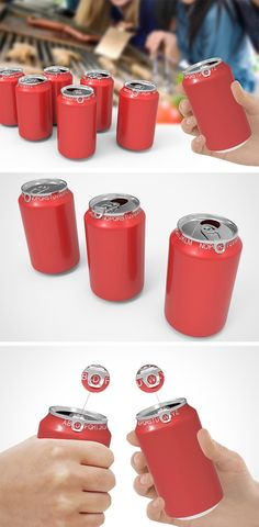 Everyone's experienced a drink mix up at one time or another and this packing concept, called My Can, helps to prevent that situation. After pulling up the tab, simply fold it over the rim and mark the first letter of your name to indicate that it's your drink! Perfect for parties, you'll never get mixed up even after a few brewskis!