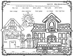 Here's a simple neighborhood map coloring page