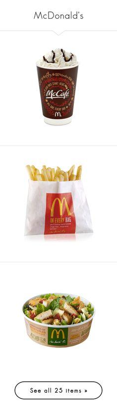 """McDonald's"" by isaeva-nastya ❤ liked on Polyvore featuring food, food and drink, drinks, comida, food & drink, filler, fillers, food & drinks, stuff and home"
