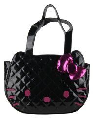 Loungefly Hello Kitty Black Quilted Face Bag