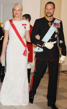 Crown Prince Haakon of Norway with his wife Crown Princess Mette Marit