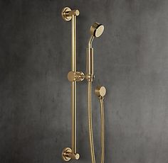 RH's Sutton Wall-Mount Handheld Shower:Sleek lines and a modern sensibility define our solid brass collection for the bath.