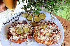 Kváskové langoše snadné-těsto v chladu uložené vydrží i několik dnů! A Table, Camembert Cheese, Dairy, Pizza, Gluten, Food, Essen, Meals, Yemek