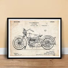 Harley Davidson Poster 18x24 1928 by StevesPosterStoreUSA on Etsy