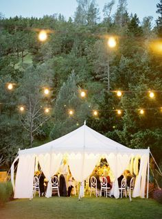 Napa Valley reception on a warm autumn evening...so lovely!