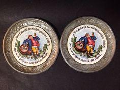 Estate Find - Vintage German Beer Trays - Set of 2 German Beer, Ber, Vintage Ceramic, My Ebay, Trays, Ceramics, Ceramica, Pottery, Ceramic Art