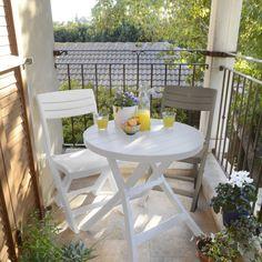 Allibert Tacoma bistro chair white