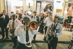 Pin Stripe Brass Band contributed to this wedding photo.