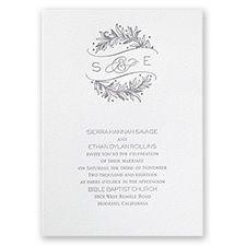 Natural Crest Letterpress Wedding Invitation