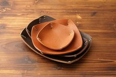 5610 Leather Tray Vegetable Leather Large by HEVITZ on Etsy