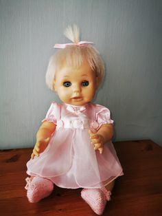 My new open mouth first love doll Girls Dresses, Flower Girl Dresses, Child Hood, No One Loves Me, My Children, Doll Clothes, First Love, Memories, Dolls