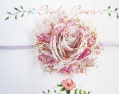 Venda del bebé flores diadema de flores diademas de por poshestelle