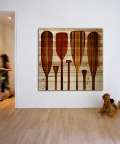 Parvez Taj Paddles Natural Pine Wood Wall Art | zulily