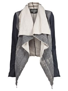 Wide Lapel Jacket, see website for multiple views Cardigan Blazer, Designer Leather Jackets, Cool Style, My Style, Linen Jackets, Love Fashion, Fashion Design, Mode Inspiration, Swagg