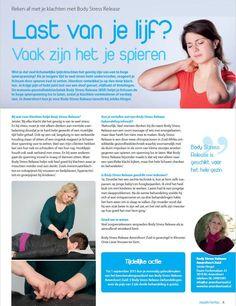 Last van je lijf? Vaak zijn het je spieren. Reken af met je klachten met Body Stress Release. www.bsr-amersfoortzuid.nl