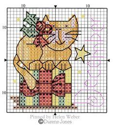 Cross Stitch Embroidery, Cross Stitch Patterns, Cat Calendar, Cross Stitch Animals, Stuffed Animal Patterns, Christmas Cross, Farm Animals, Cat Stuff, Sewing