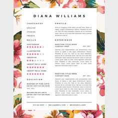 Resume Template 3 page pack CV Template Cover Letter for