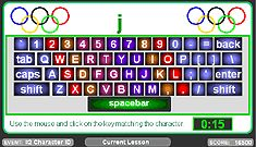 Free typing games on line, picture of Play Keyboard Triathlon