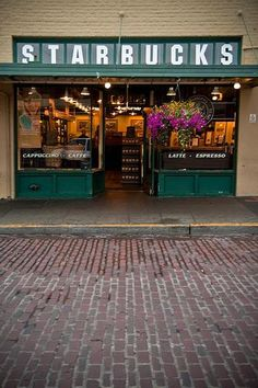 The original Starbucks in Seattle, WA