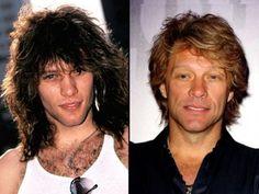 Jon Bon Jovi - then and now    YUM