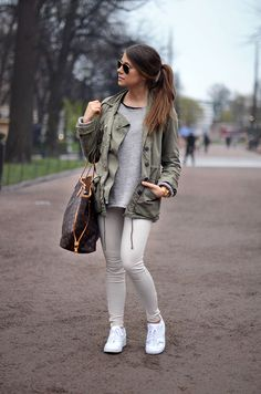 sporty army look (via Bloglovin.com )