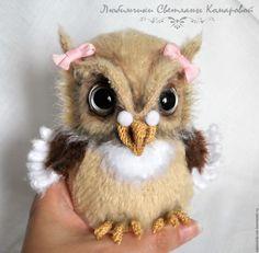 Купить Софочка сова - бежевый, Светлана Комарова, МК по вязанию, вязаная…
