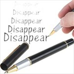 Novel Magic Auto Vanishing Pen Disappearing Ink Pen Ballpen Air Erasable Pen Invisible Ink Sign Pen - Black