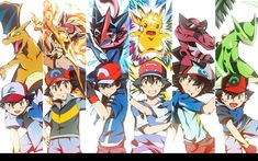 Ash Ketchum and his Ace Pokemon in all regions Ash Pokemon, Pokemon Team, Pikachu, Pokemon Ash Ketchum, Pokemon Fan Art, Cool Pokemon, Pokemon Cards, Pokemon Poster, Pokemon Images