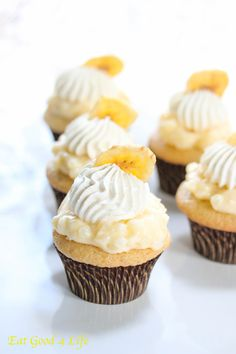 Eat Good 4 Life » Gluten free Banana pudding cupcakes