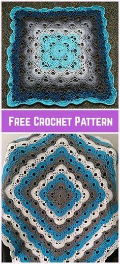 Crochet Virus Blanket Square Baby Blanket Free Crochet Pattern