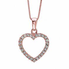 FINE JEWELRY Diamond Blossom Womens 1/2 CT. T.W. White Diamond 10K Gold Pendant Necklace