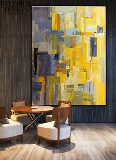 Vertical Palette Knife Contemporary Art #L2B – CZ Art Design