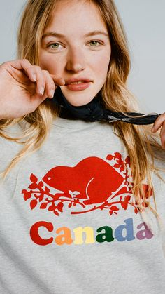 3a16e464 A Roots favourite, our Womens Cooper Canada Crewneck Sweatshirt is made  from our ultra-