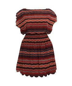 Red Pattern Zig Zag Tunic | New Look | Plus-size