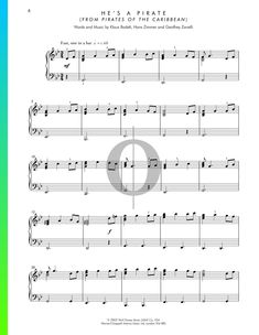 He's A Pirate Sheet Music for Piano Song from Pirates of the Caribbean by Klaus Badelt, Hans Zimmer Piano Songs, Piano Sheet Music, Pop Songs, Movie Songs, G Minor, Easy Piano, Pirates Of The Caribbean, Soundtrack, Math Equations