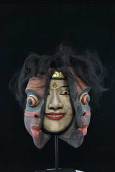 Here is a rarity. Balinese traditional dance masks assuming the form of a Native…